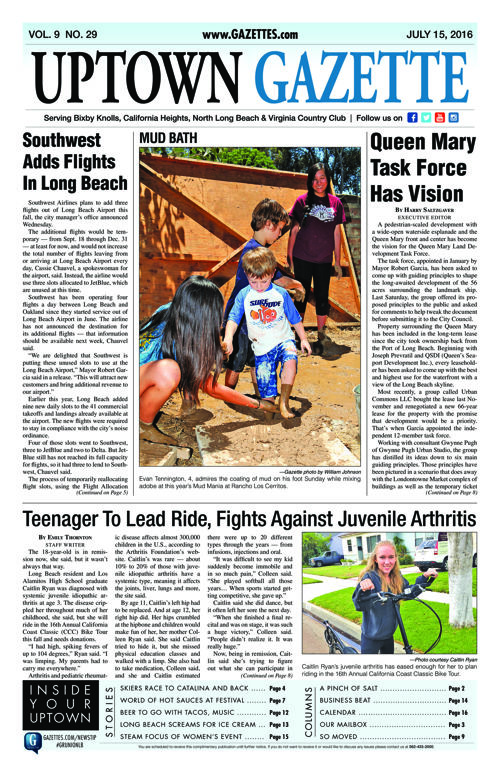 Uptown Gazette  |  July 15, 2016