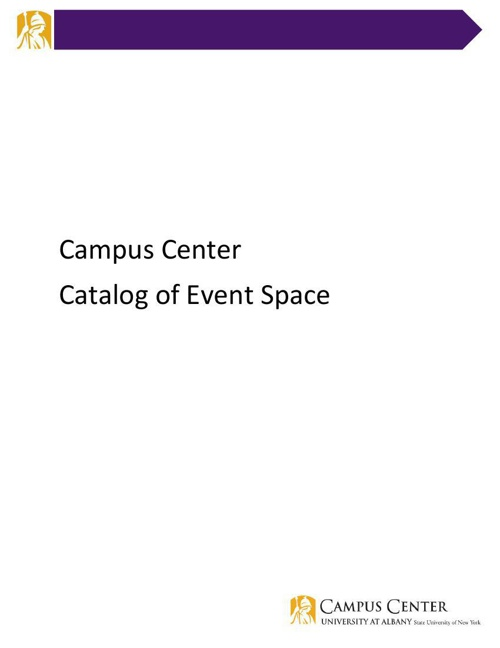Campus Center Catalog of Event Space