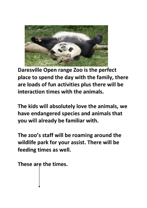 Zooworld Booklet
