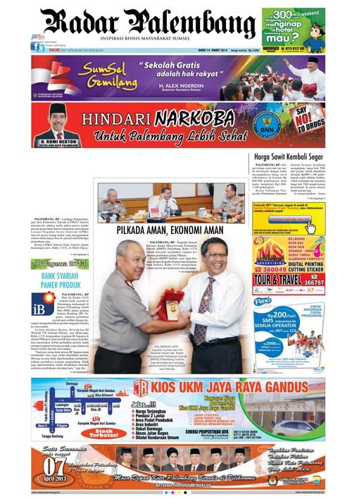 Radar Palembang Edisi 14-03-2013 Koran 1