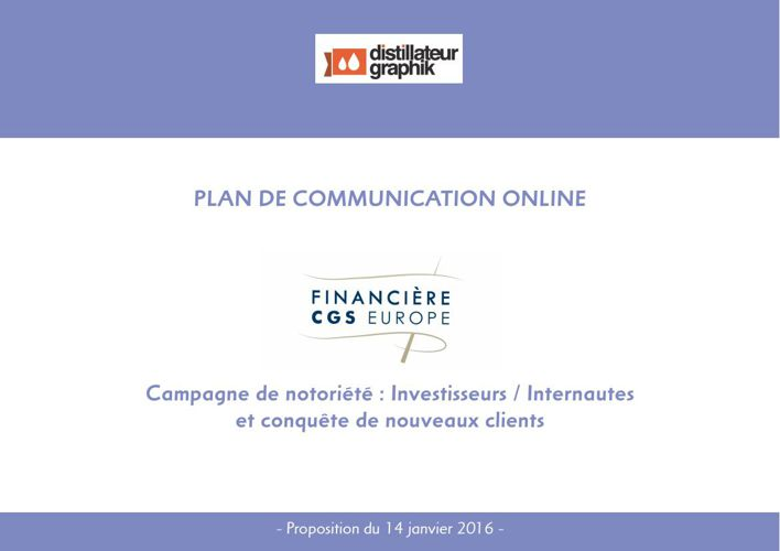 Plan de Com Dossier Investisseurs