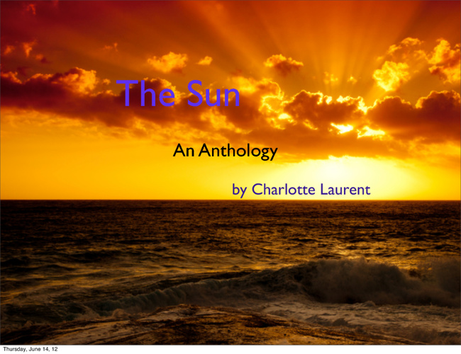 Poetry Anthology: Sun