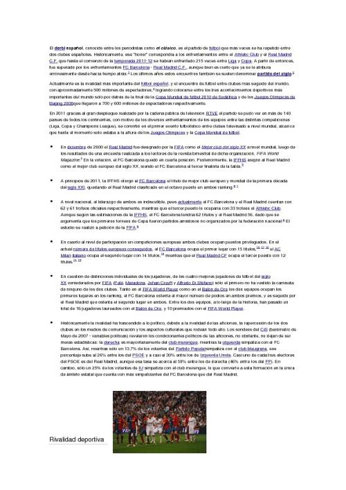 HISTORIA DE CLASICOS