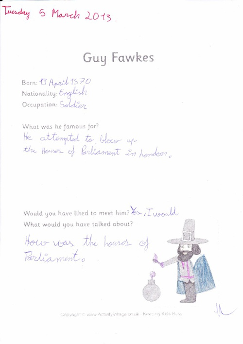 Guy Fawkes's Works