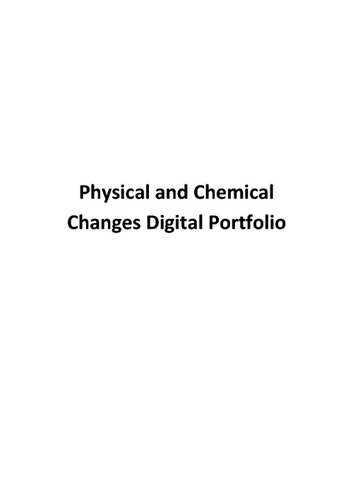 Mason's Physical and Chemical Changes Portfolio