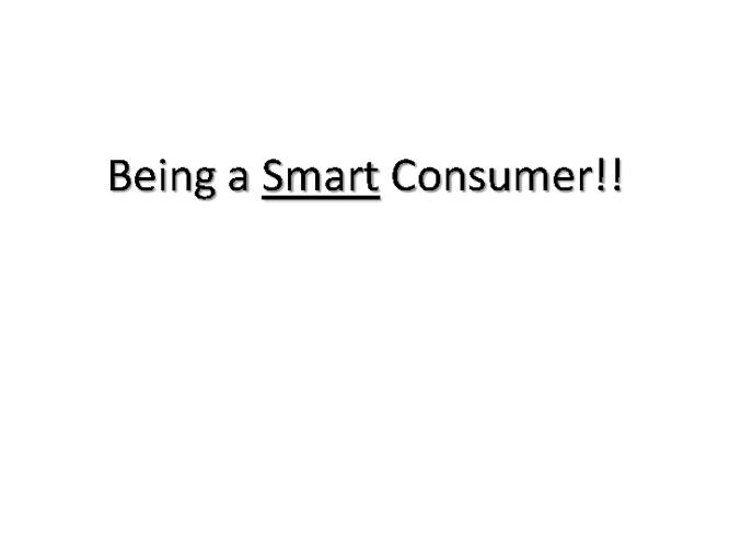 Smart Consumer Info