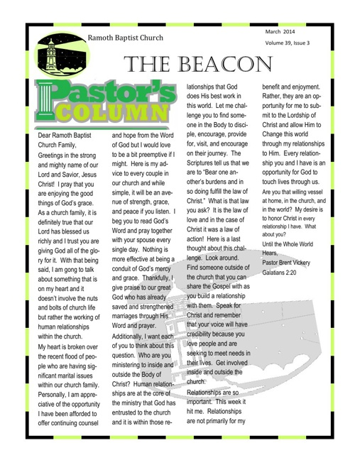 The Beacon March edition