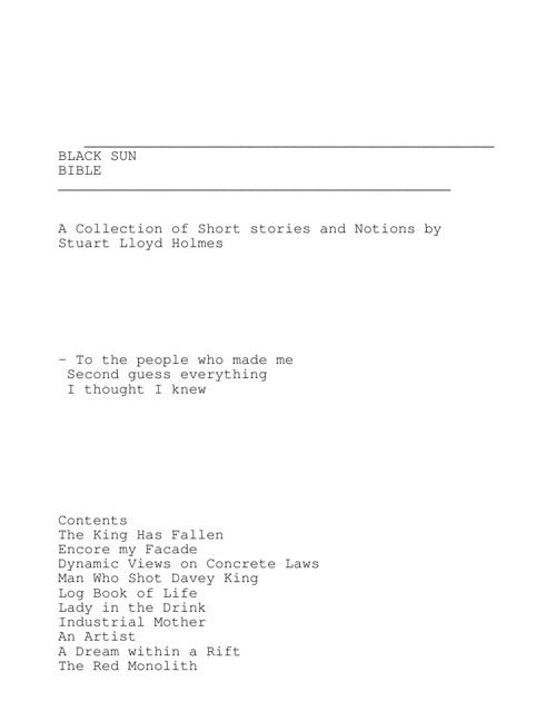 Black Sun Bible - Stuart Holmes