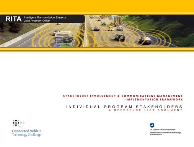 ITS-JPO STAKEHOLDER FRAMEWORK-INDIVIDUAL PROGRAMS
