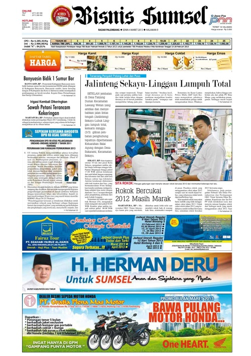 Radar Palembang Edisi 04-03-2013 Koran 2
