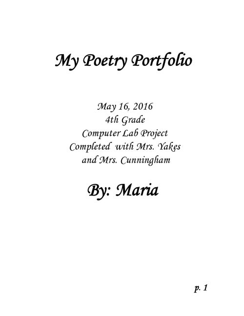 Poetry-Portfolio-Maria F.