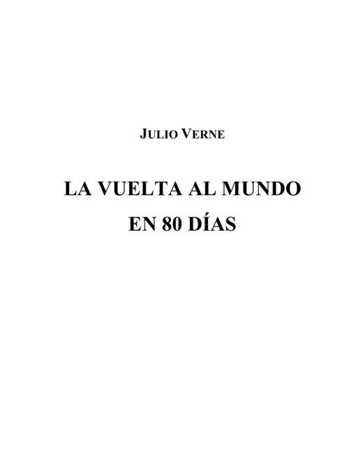Julio Verne - Vuelta al mundo en 80 dias