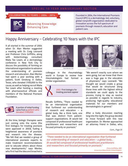 10 Year Anniversary Article