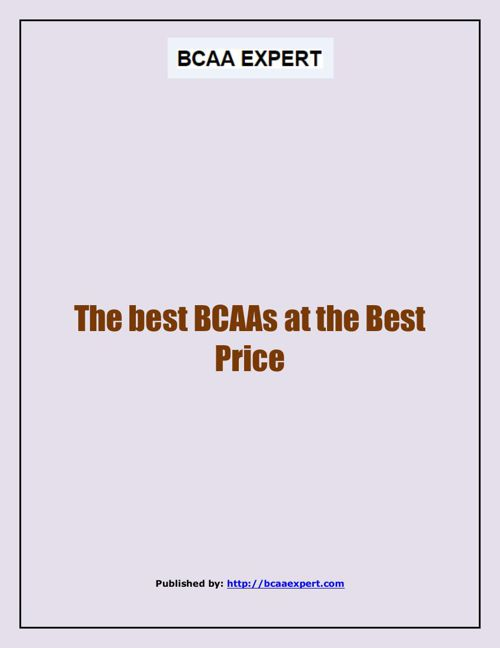 The best BCAAs at the Best Price