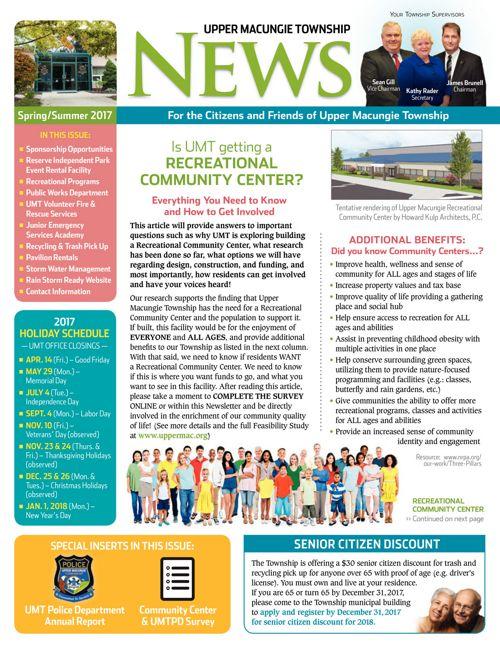UMT Spring Newsletter 2017