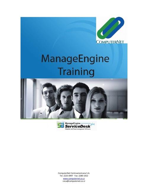 Agenda Inducción ManageEngine Service Desk Plus