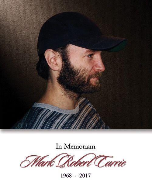 Memorial Card for Mark Robert Currie