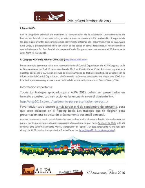 Carta Aérea_ALPA_No 5 septiembre 2015