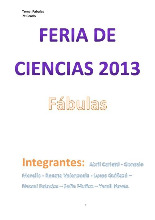 Feria de Ciencias - Fábula