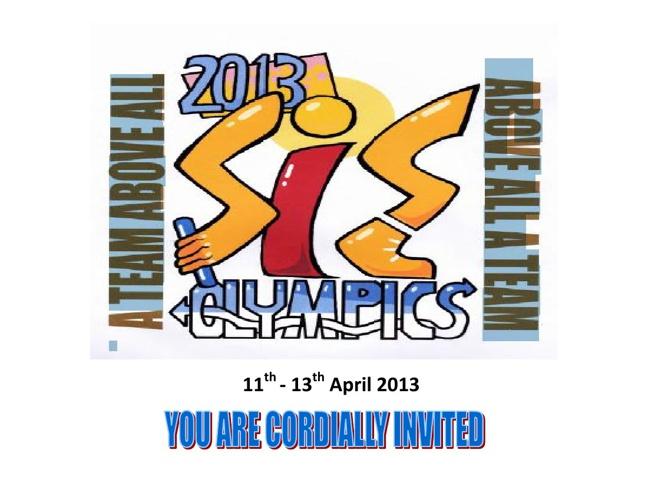 SIS Olympics 2013 Program