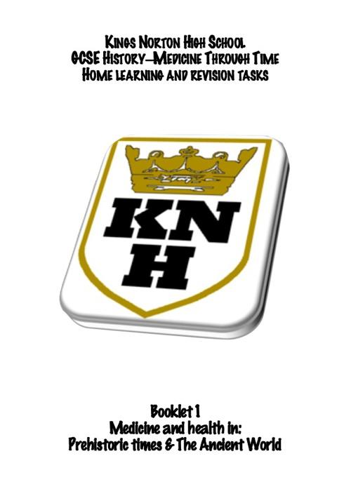 KNHS GCSE History HL: Medicine  booklet 1