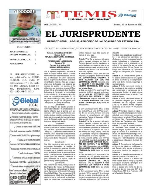 El Jurisprudente Volumen 1 Número 1