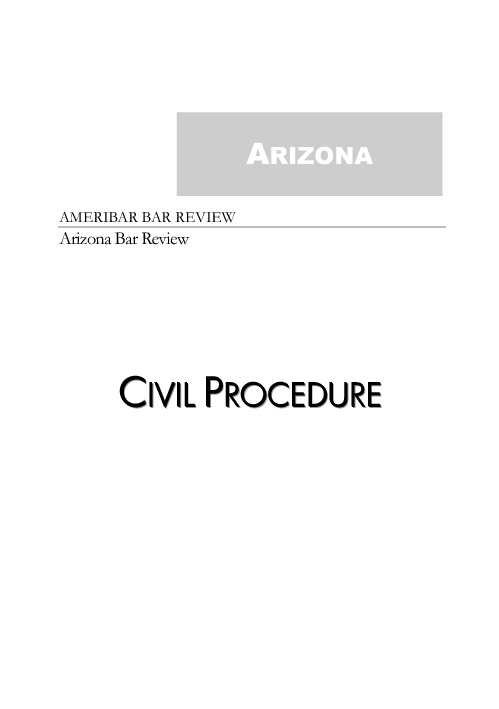 Federal Civil Procedure