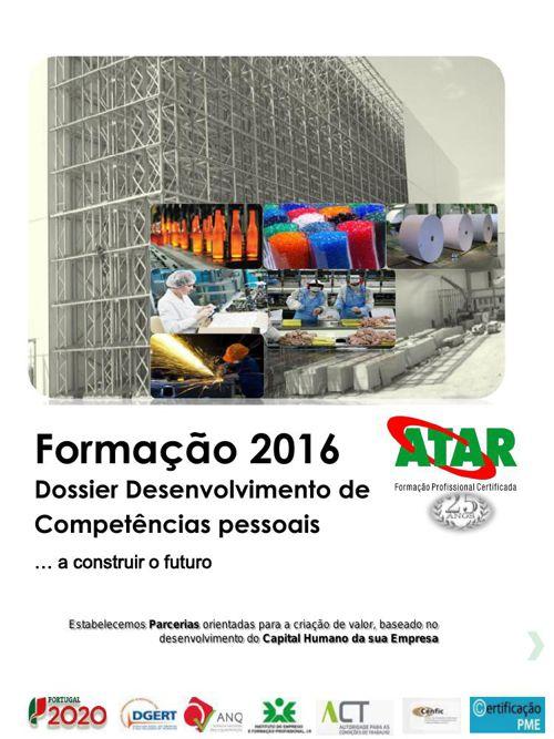 Catálogo Formação 1 º sem 2016 dossier comp pessoais