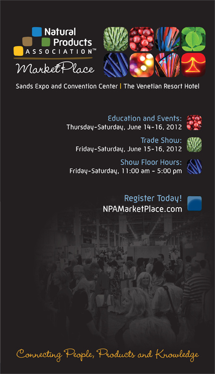 2012 Natural Products Association MarketPlace Brochure