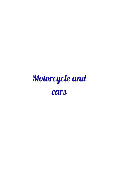 motorcycles and cars WEB 2.0