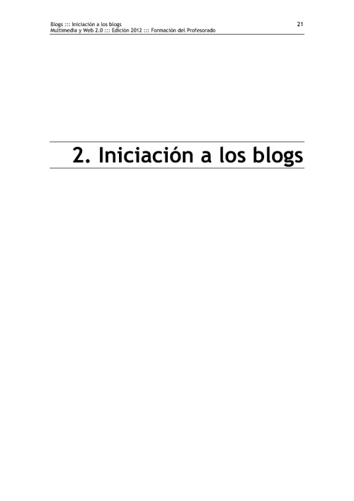 Módulo I. Blogs: 2. Iniciación a los blogs