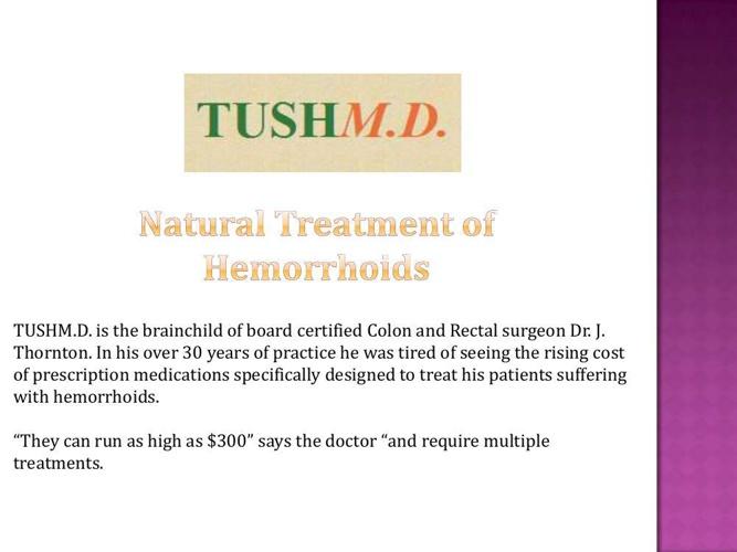 Natural Treatment of Hemorrhoids