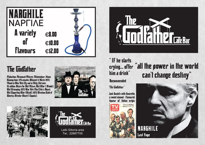 Godfather Menu