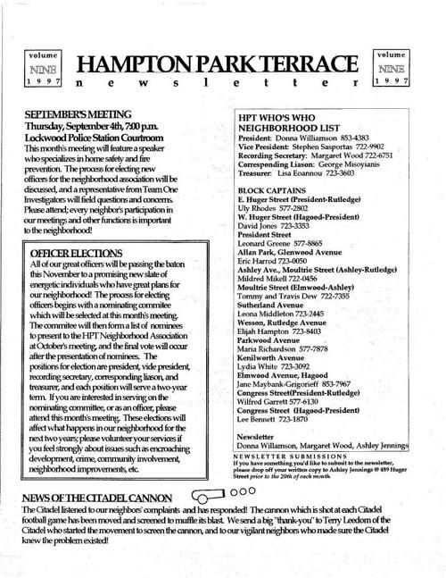 HPT Newsletter September 1997