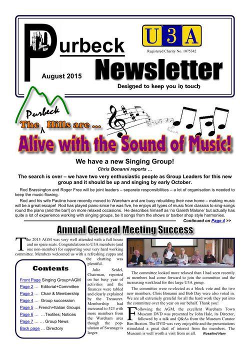 Newsletter 2015-08