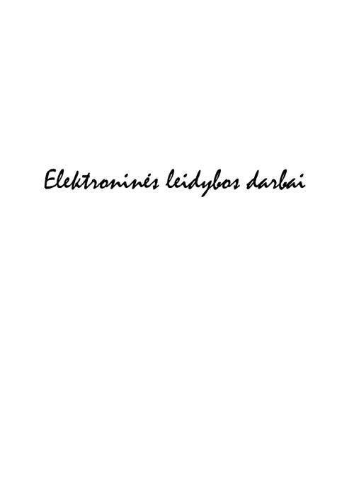 Elektroninės leidybos darbai