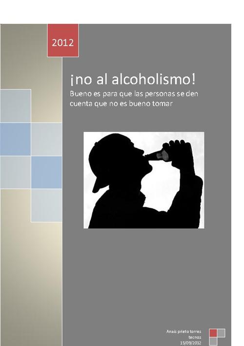 no al alcoholismo