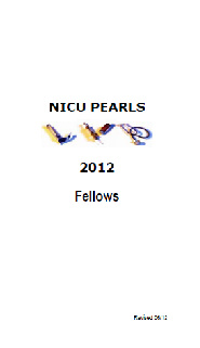 NICU Pearls 2012 Fellows