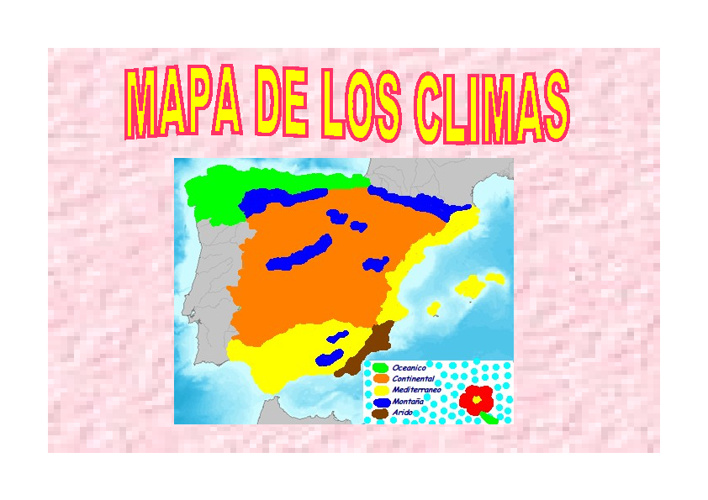 MAPA CONCEPTUAL Y MAPA DE LOS CLIMAS