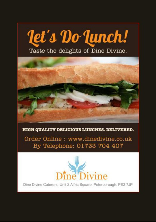 Dine Divine Lunch Menus 2014