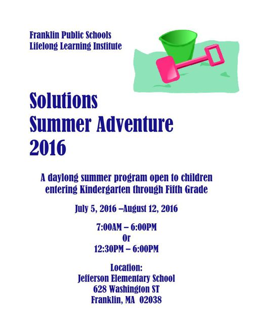 Solutions Summer Adventure 2016