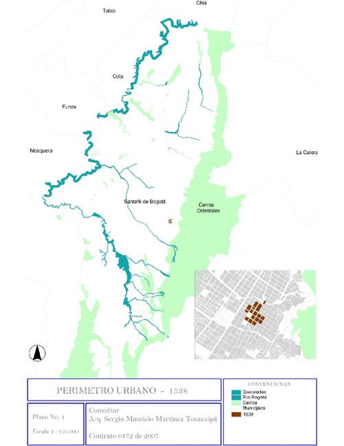Planos retrospectiva de asentamientos informales en Bogotá