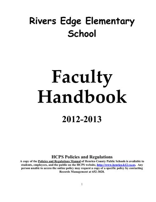 Teacher Handbook 2012-2013
