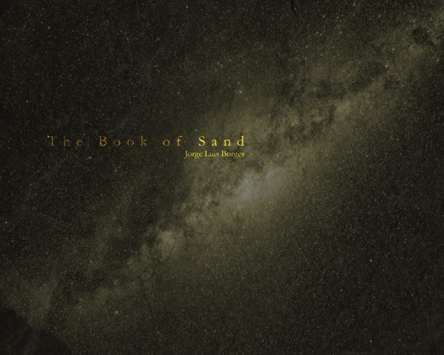 The Book of Sand by Jorge Luis Borges (Designed by Cy Abdelnour)