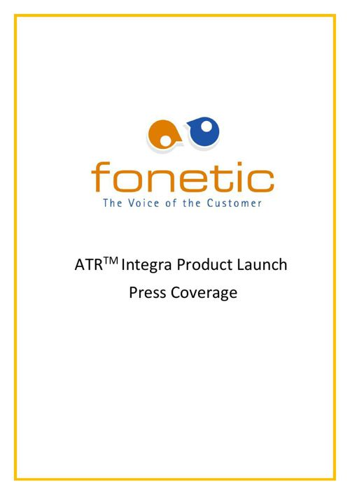 ATR Integra Product Launch