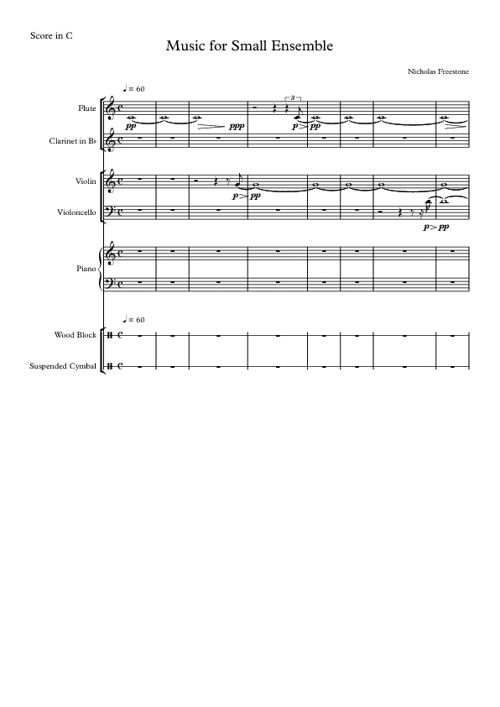 Music for Small Ensemble