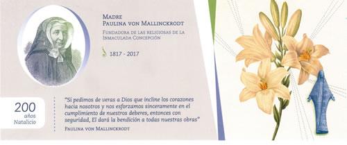 Invitación a Misa Bicentenario Madre Paulina
