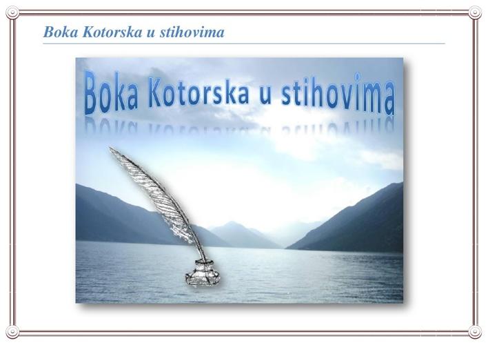 Boka Kotorska u stihovima