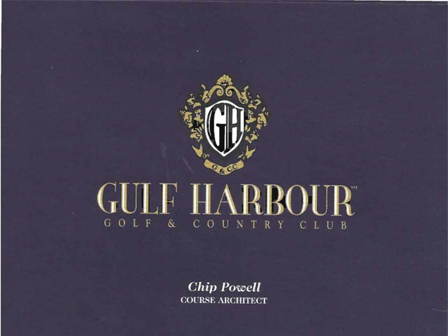 Gulf Harbour Golf Tee Card