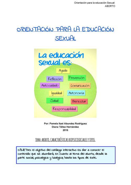 ORIENTACIÓN PARA LA EDUCACIÓN SEXUAL